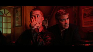 Brad Pitt and George Clooney from Ocean's Twelve