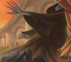 Voldemort from the cover of Harry Potter and the Deathly Hallows
