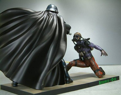 Kotobukiya Luke Skywalker vs Darth Vader artfx statue