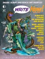 Magazine cover art for Write Now! #15