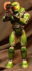 Halo action figure: Master Chief green