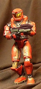 Halo action figure: Master Chief red