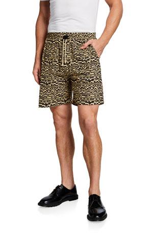 Nanushka Men's Doxxi Leopard-Print Shorts