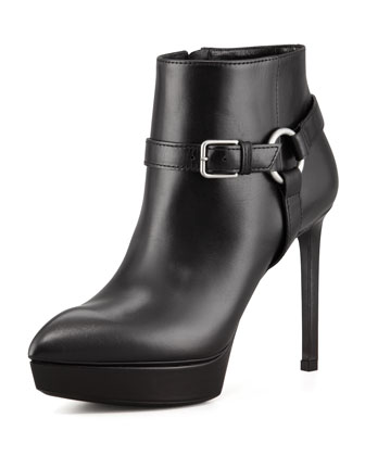 saint laurent harness booties