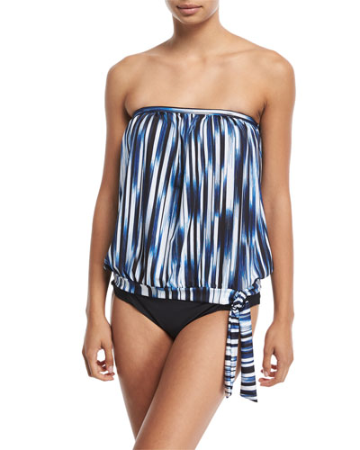 Hey There Shirred-Side Hipster Swim Bottom, Plus Size and Matching Items