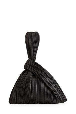 Nanushka Jen Pleated Top-Handle Bag
