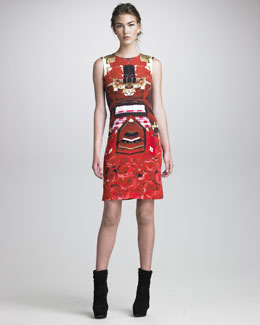 Mary Katrantzou Formfitting Printed Dress