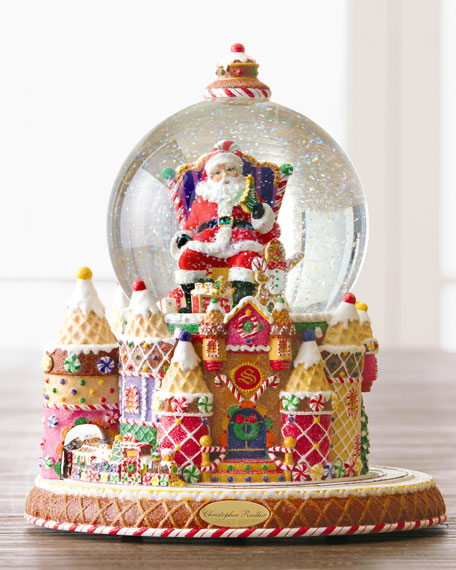 Christopher Radko Santa And Sweet Treats Snow Globe