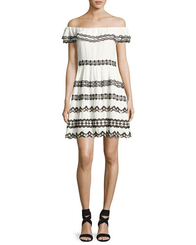Designer Dresses on Sale at Neiman Marcus Alice   Olivia Rozzi Off the Shoulder Dress  Multi