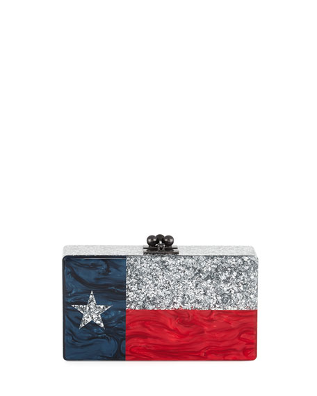 Jean Lone Star Clutch Bag, Silver