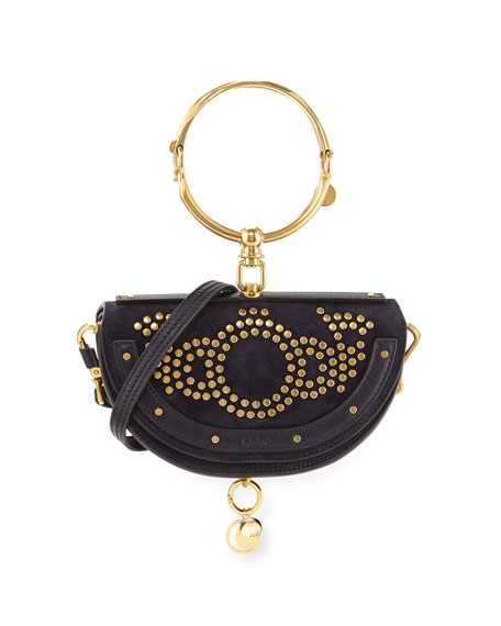 Nile Small Studded Bracelet Minaudiere Bag