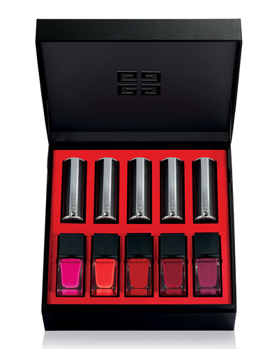 Givenchy Color Box Lipstick + Nail Polish Set, Red Collection