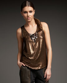 Sachin + Babi Kiara Sequined Top