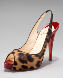 Christian Louboutin No Prive Leopard Pony Pump