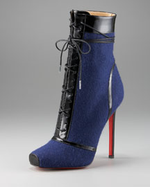 Christian Louboutin Jazz Lace-Up Bootie