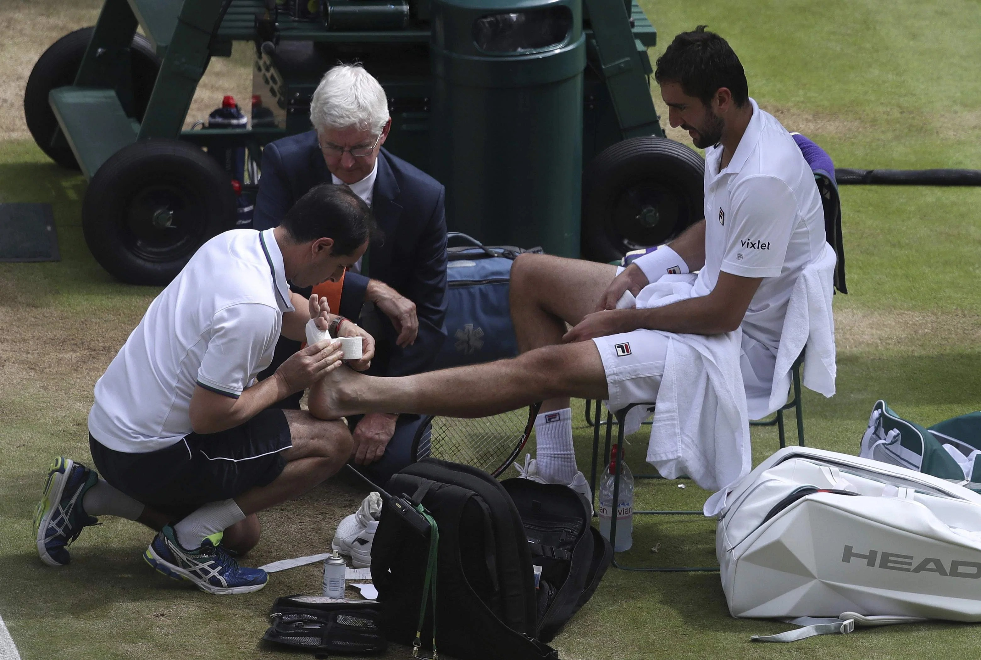 Image result for marin cilic injury wimbledon