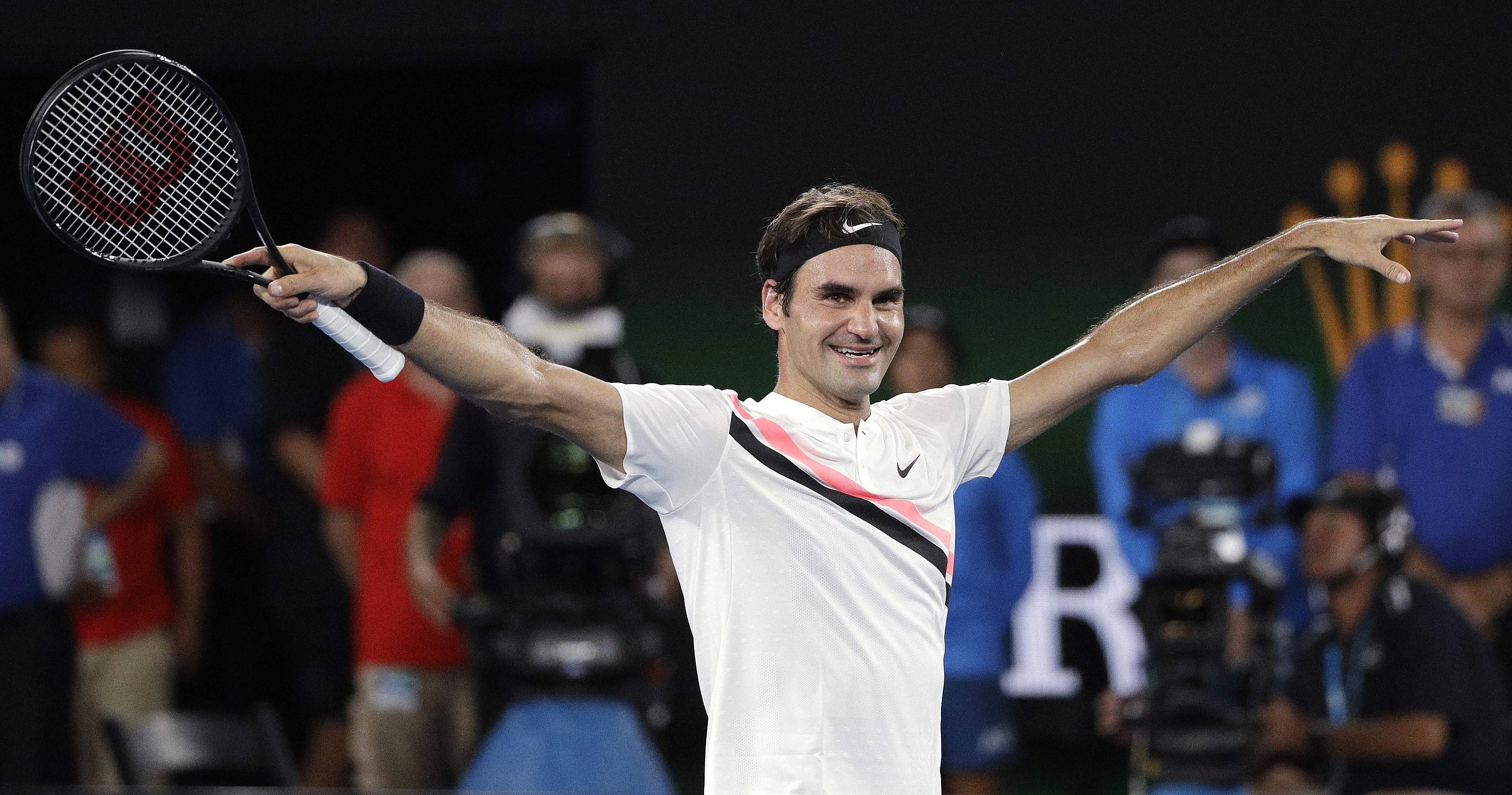 Image result for Roger Federer overpowers Grigor Dimitrov to win 97th career title