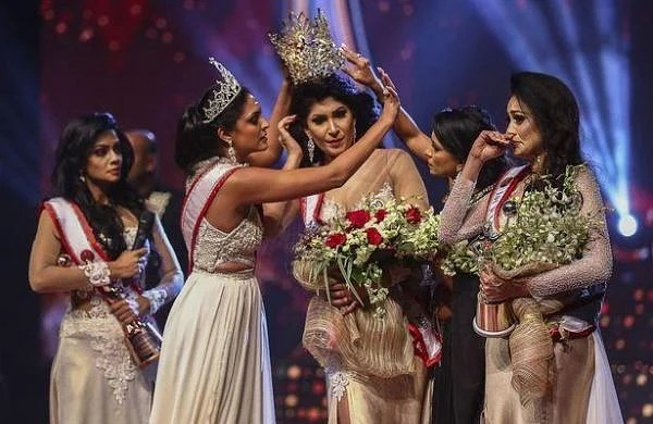 WATCH | Newly crowned Mrs Sri Lanka injured in on-stage brawl over marriage status