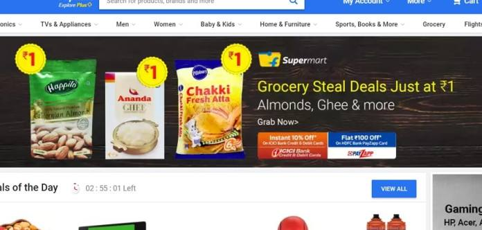 'Grocery Weekend Dhamaka' sale is going on at Flipkart.