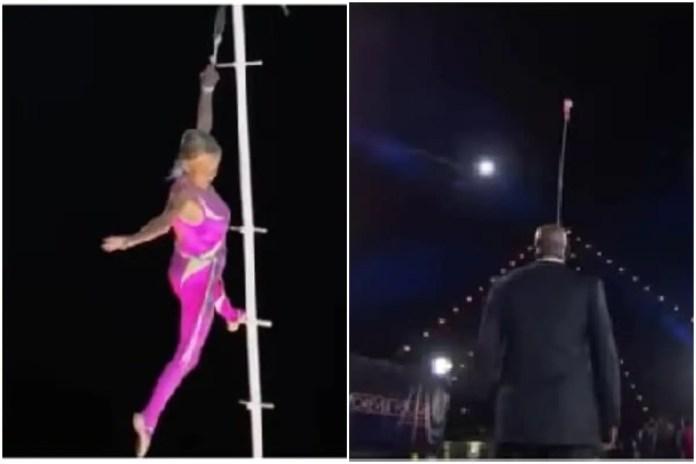 81 साल की दादी ने 85 फुट लंबे पोल पर किया पोल डांस, खुला रह गया सबका मुंह