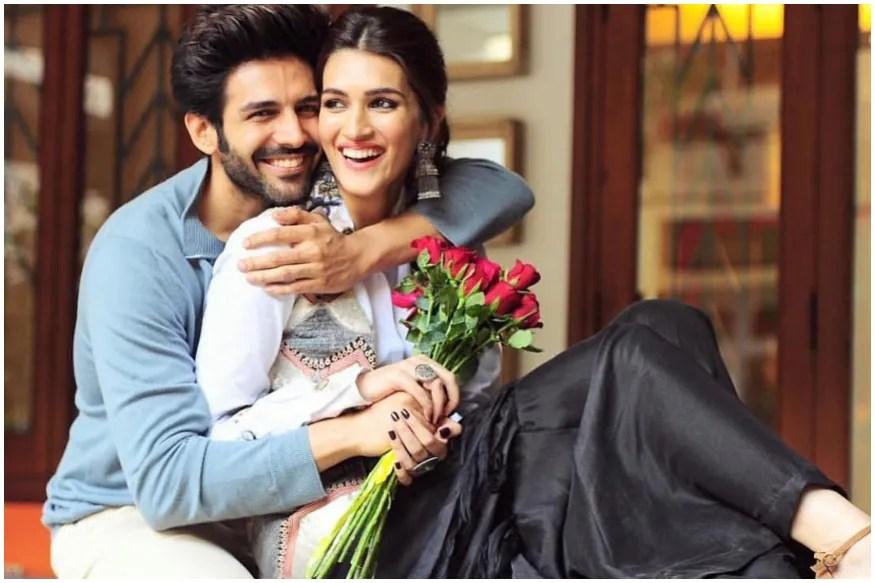 Kartik Aaryan Presents Hilarious Poster of Pati Patni Aur Woh Sequel to Wish Kriti Sanon on Birthday