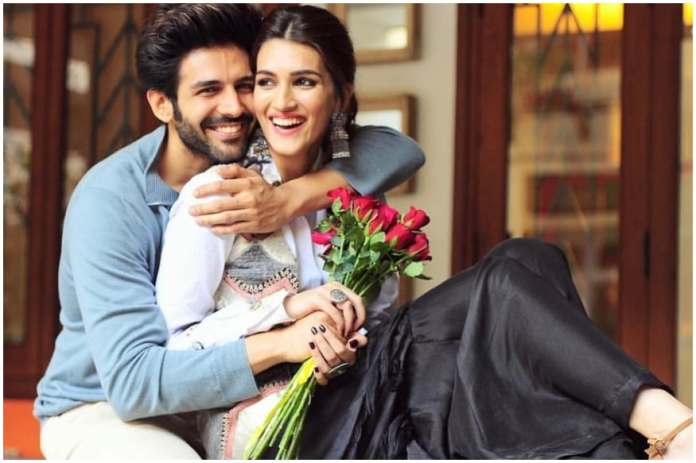 Kartik Aaryan Presents Hilarious Poster of Pati Patni Aur Woh Sequel to Wish Kriti Sanon on Birthday