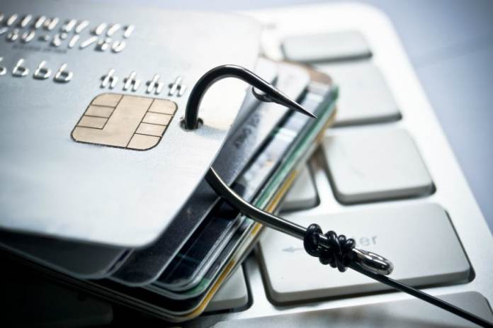 Card theft phishing attack