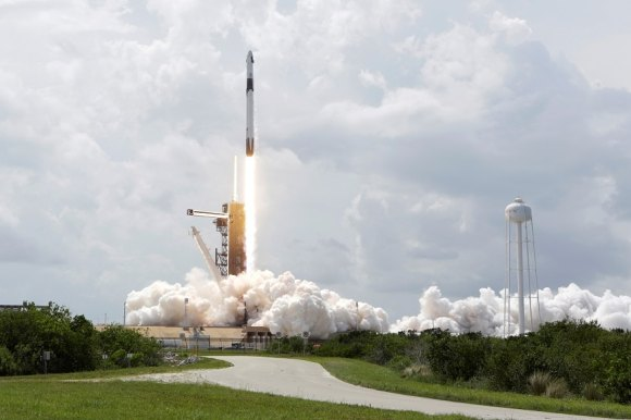 A SpaceX Falcon 9 rocket and Crew Dragon spacecraft carrying NASA astronauts Douglas Hurley and Robert Behnken lifts off during NASA's SpaceX Demo-2 mission to the International Space Station from NASA's Kennedy Space Center in Cape Canaveral, Florida on May 30, 2020.  (Photo: Reuters)