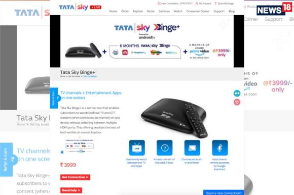 Tata Sky Has a New Binge+ Android TV STB With 6 Months of Free Disney+ Hotstar And More