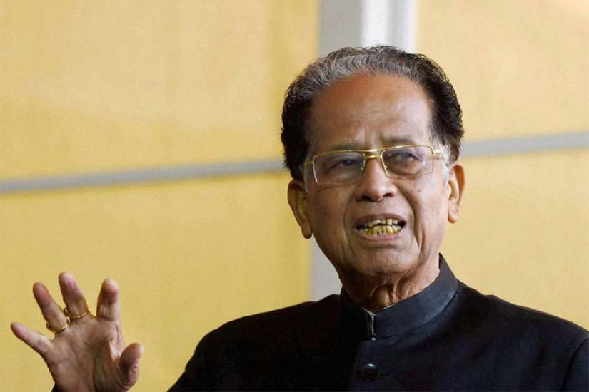 Congress leader and former Assam chief minister Tarun Gogoi.