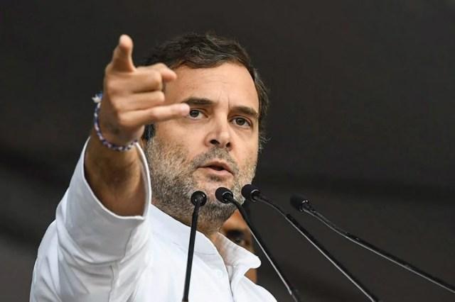 कांग्रेस नेता राहुल गांधी की फाइल फोटो। (PTI)