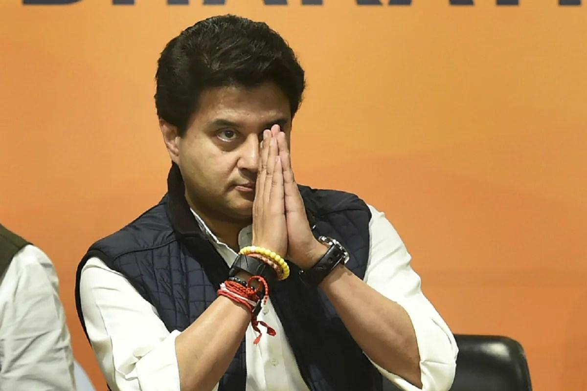 BJP MP Jyotiraditya Scindia.