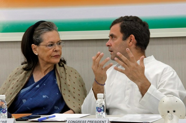 Sonia Gandhi and Rahul Gandhi (Reuters File)