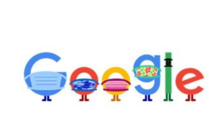 Google Doodle on Covid-19 prevention.