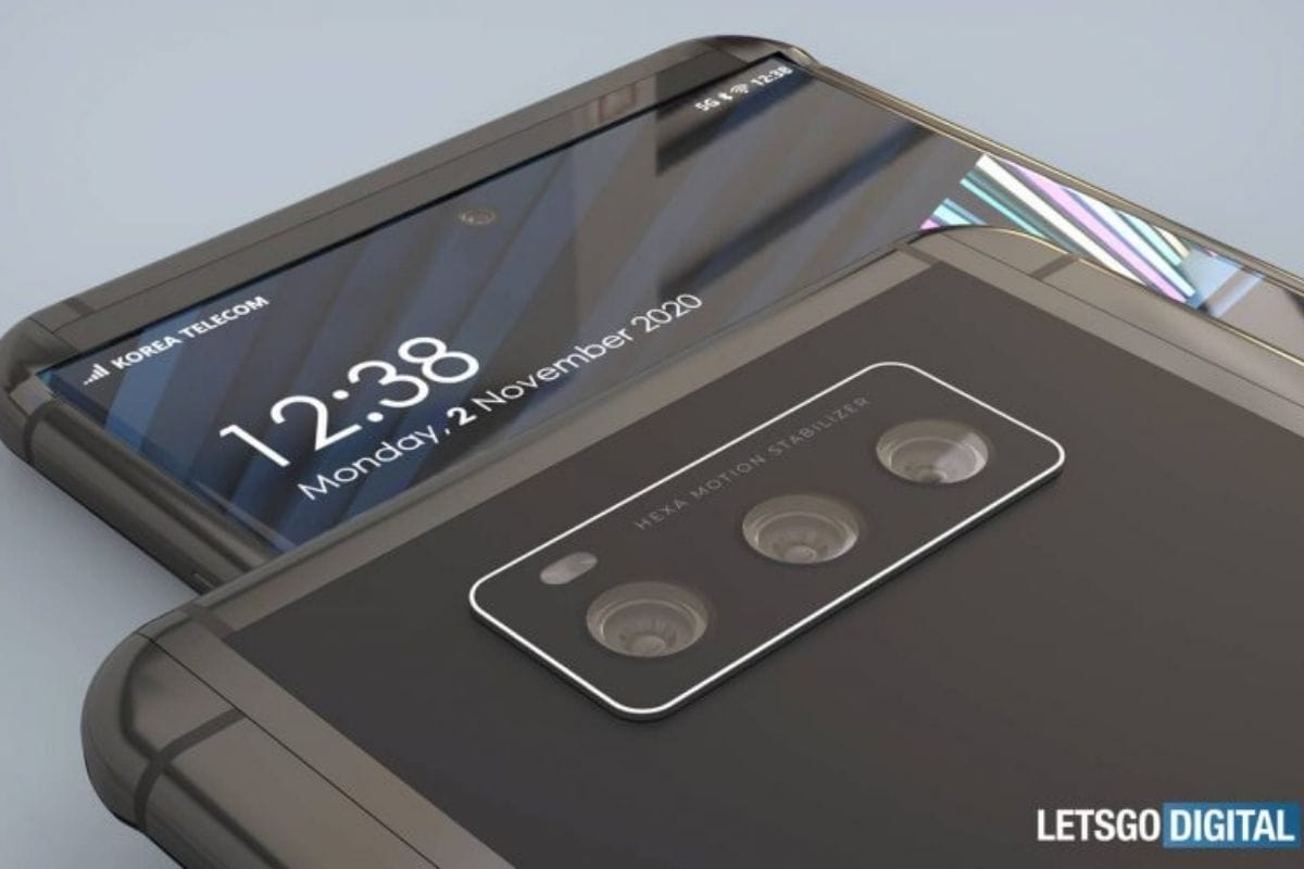 The renders also show that the user might choose to only extend the screen from one side, depending on how bigger they would want to make their screen. (Image Credit: LetsGoDigital)