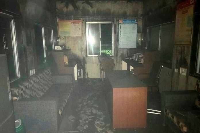 Bhandara: Charred remains of furniture and other equipments inside the new born babies care unit of the Bhandara District General Hospital after a fire which broke out in the wee hours, in Bhandara district of Maharashtra, Saturday, Jan. 9, 2021. 10 infants died in the incident. (PTI Photo)