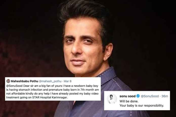 Sonu Sood Responds to Telangana Man's Appeal to Save Ailing Baby, Calls it His 'Responsibility'   Latest News Live   Find the all top headlines, breaking news for free online April 23, 2021