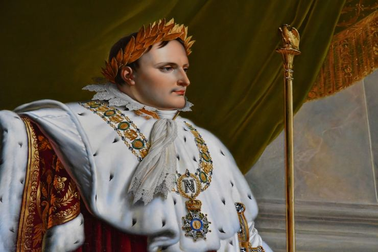 Portrait of Napoleon in the historical castle in Fontainebleau, France. (Image: Shutterstock)