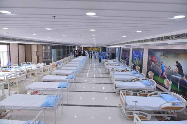 * In addition to General Ward, there are facilities for ICU, HDU.  There is an oxygen plant outside the stadium to meet the oxygen needs of the patients.
