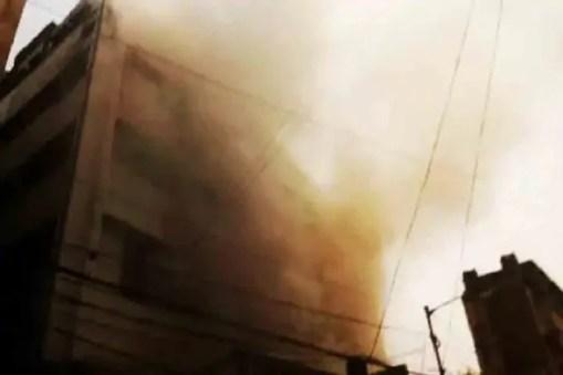 Kolkata Fire: Terrible fire on the ground floor of Lenin Street, 9 fire engines at the scene