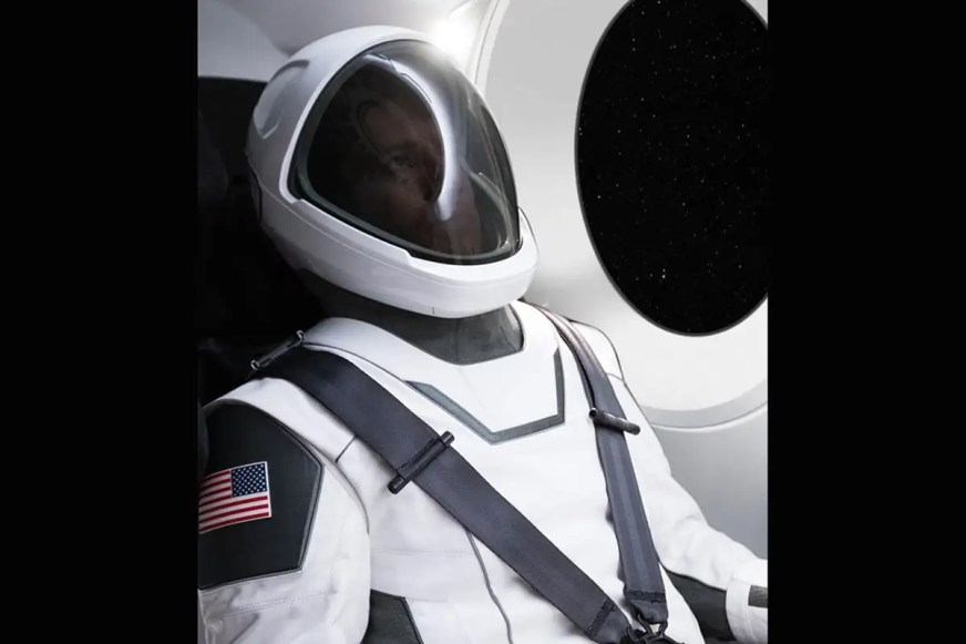 Elon Musk shows off first photo of SpaceX space suit | New ...