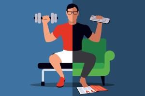 exercising artwork