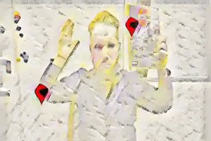 the author converted into a Google Map, using the Fast Style Transfer GAN