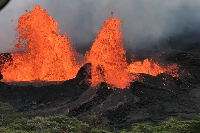 Huge volcanic eruption in 2018 was triggered by torrential rains