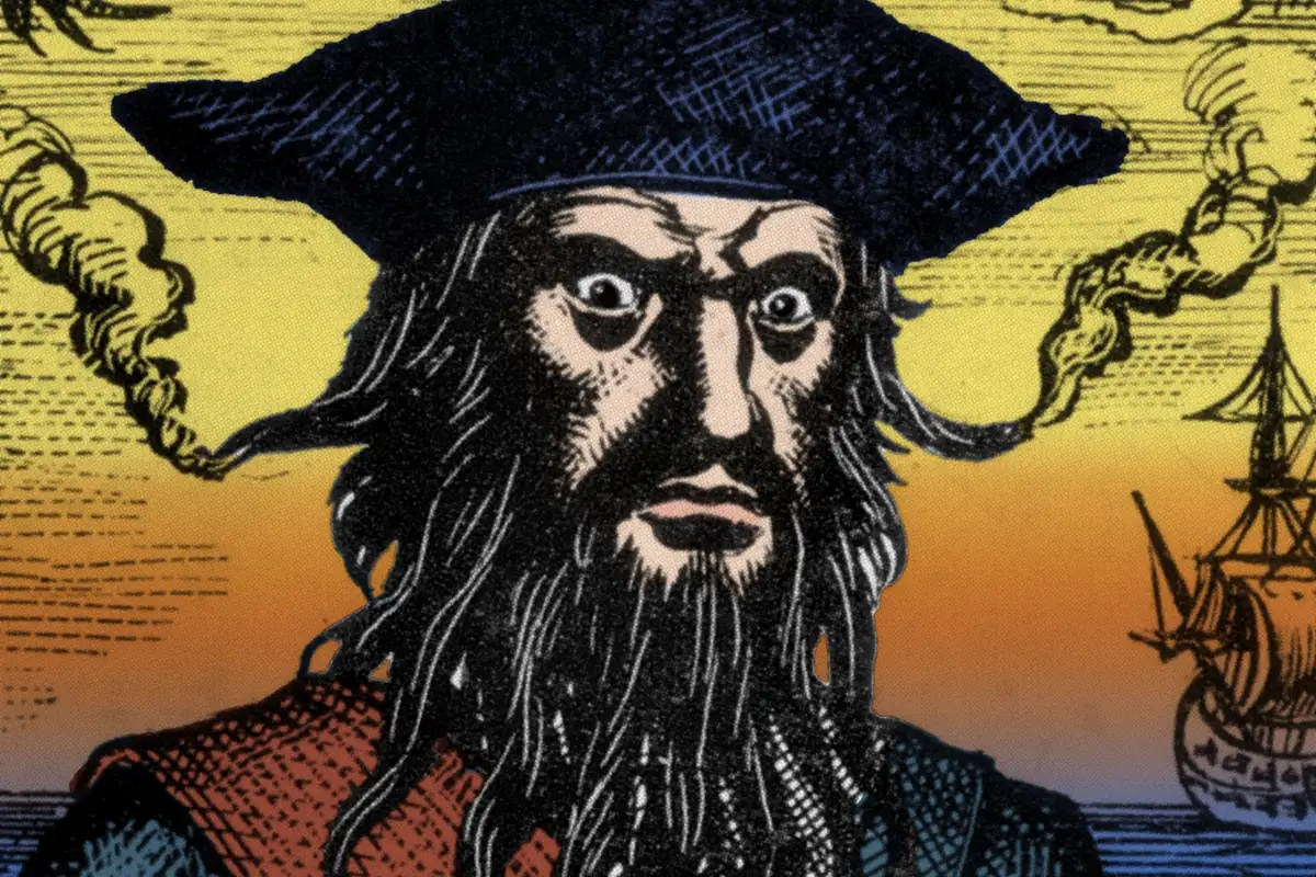 Blackbeard crashed his pirate ship on purpose because it leaked