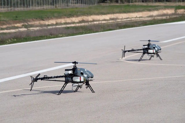 A fleet of drones can be controlled by one person with a smartphone