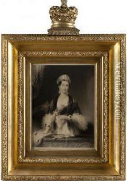 Royal Portrait Of Queen Victoria Oil Painting Reproduction