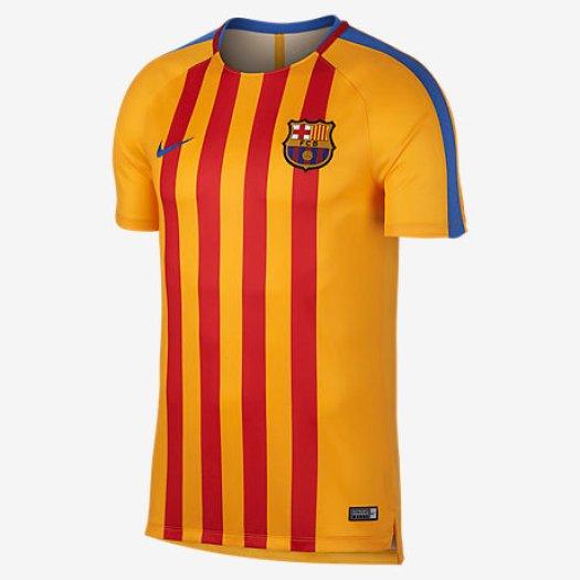 22ed52d03 En campañas anteriores la senyera era una de las camisetas de juego del  Barça. Como en las temporadas 2013-2014 y 2014-2015. Pero, años más tarde,  ...