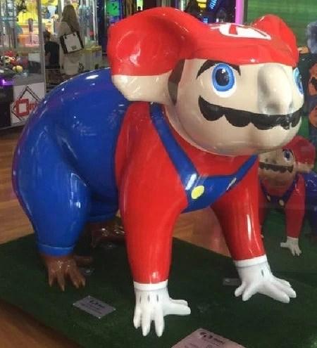 Off-model Mario
