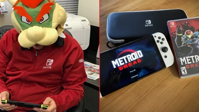 Doug Bowser's copy of Metroid Dread and his new Switch OLED!